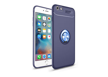 Shockproof Transparent Phone Cases For Iphone 6 Plus Invisible Metal Ring Holder Founded