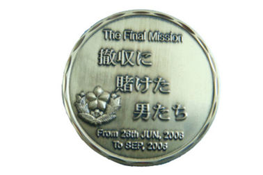 Double Sided Angel Custom Metal Coins With Display Box Multi - Colors Can Be Customized