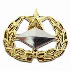 Rectangle Magnetic Custom Metal Lapel Pins Led Car Sheriff Poppy Lanyard Badge