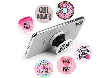 China High Definition Logo ABS And TPU Mobile Phone Popsocket Holder With Strong Air Pop Function supplier