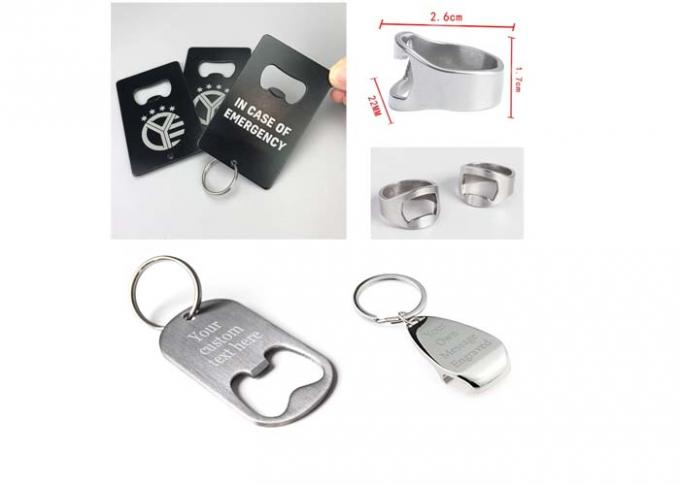 Customized Plating Metal Bottle Cap Opener Keychain Ring Stainless Steel Beer Opening